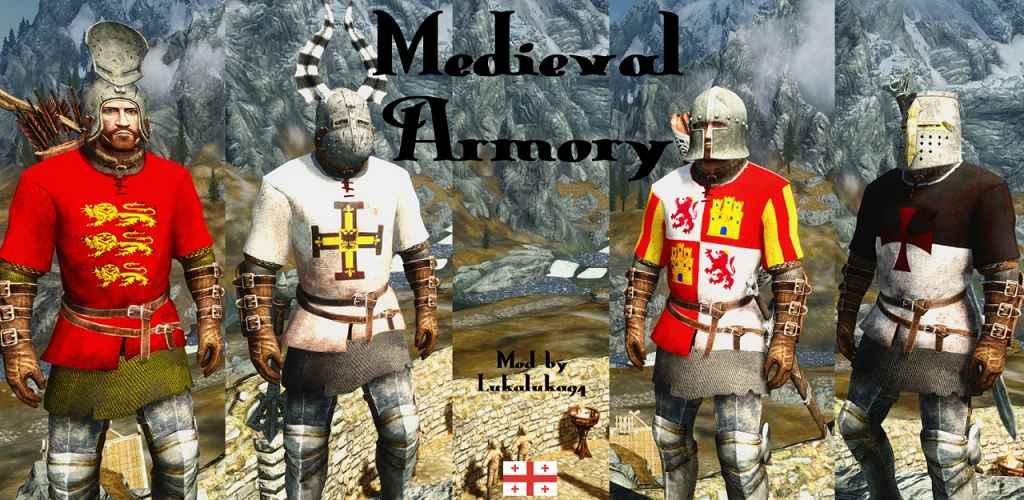 Мод Skyrim — Броня средневековья