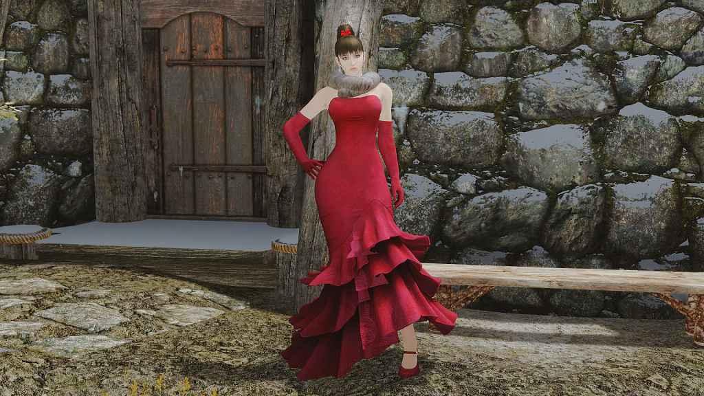 Мод Skyrim — Красное платье