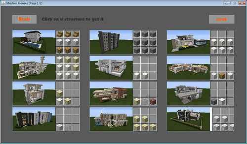 Мод Minecraft — Instant Structures / Постройки в 1 клик для 1.10/1.9/1.8/1.7.10