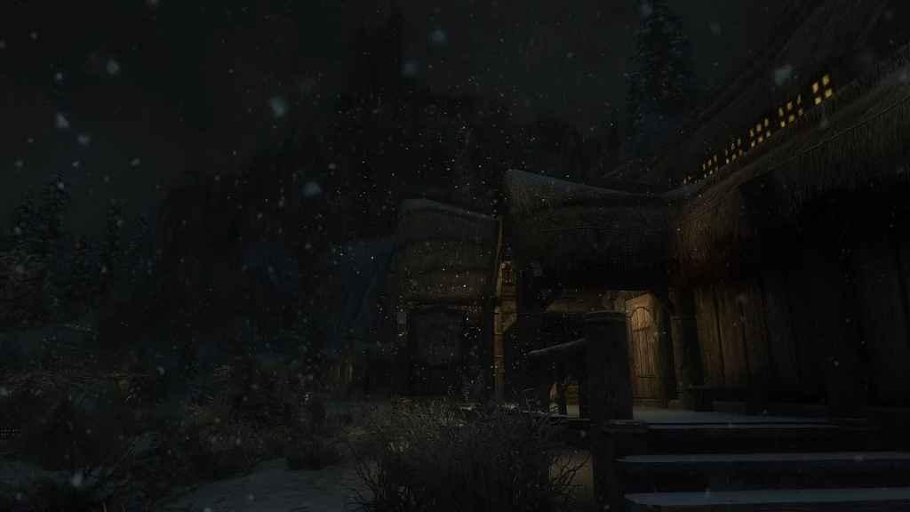 Мод Skyrim — Реальный снег (с поддержкой физики)