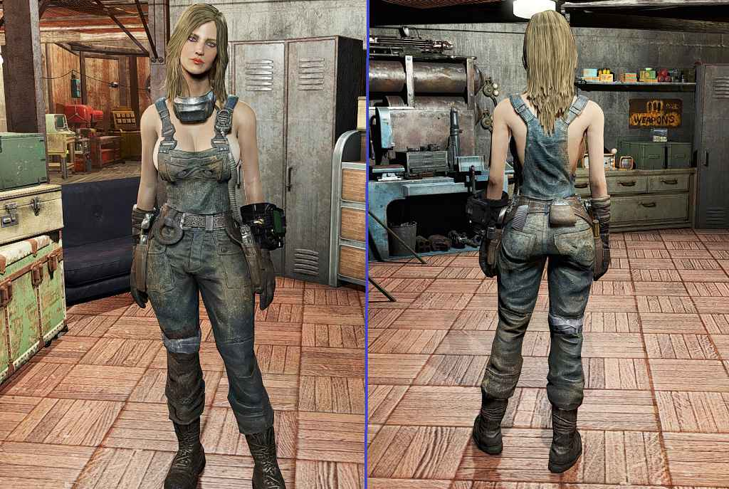 Мод Fallout 4 — Открытый комбинезон (CBBE)