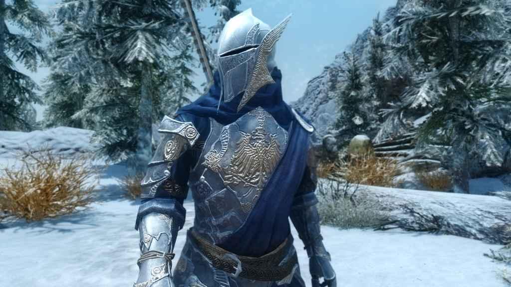 Мод Skyrim — Ослепительная броня и двуручный меч (HDT)