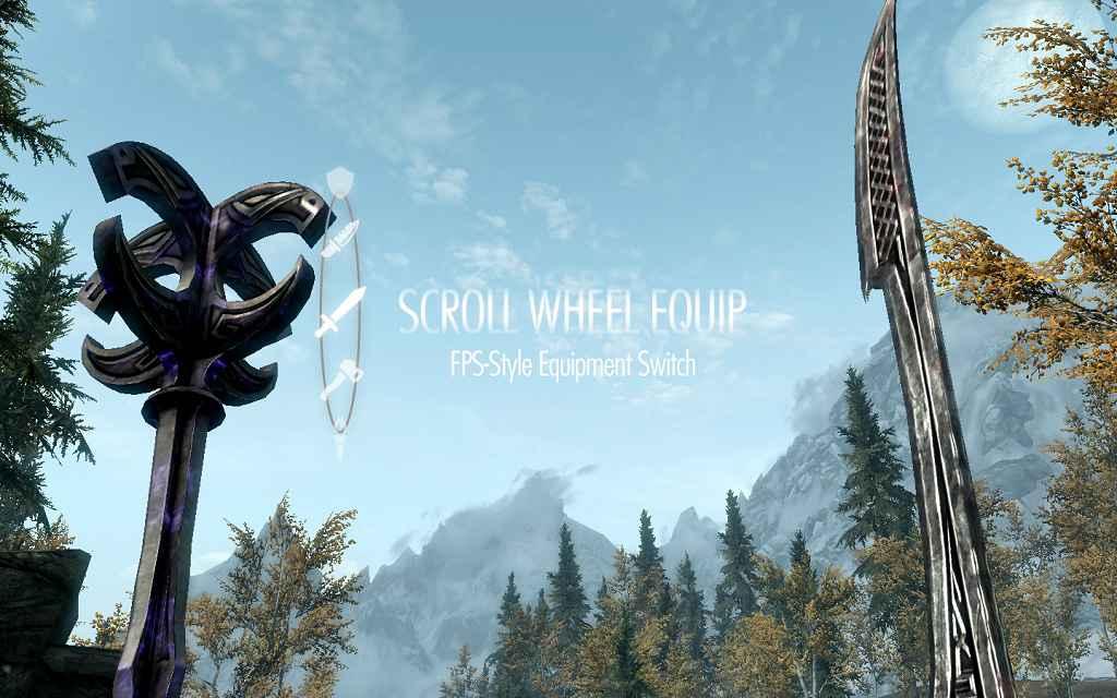 Мод Skyrim — Быстрый доступ к смене оружия