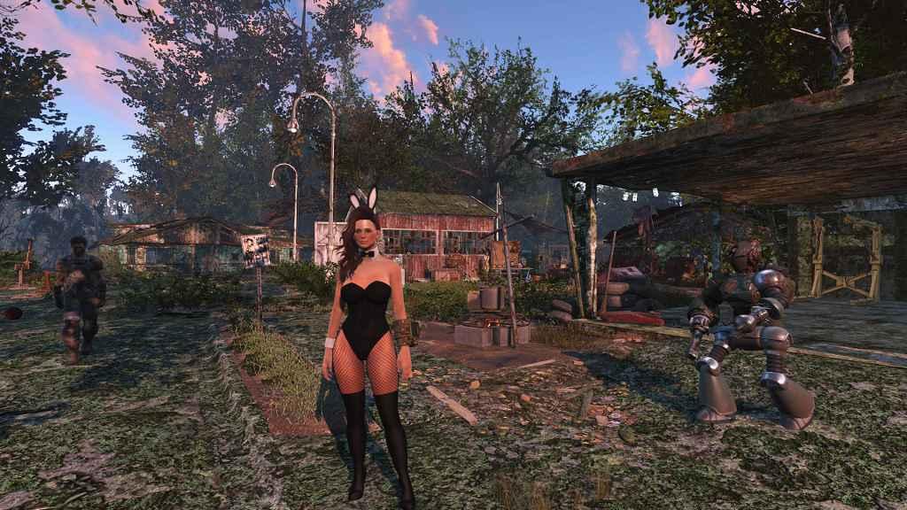 Мод Fallout 4 — Костюм кролика (CBBE)