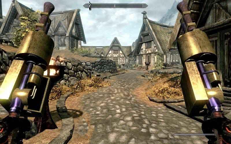 Мод Skyrim — двемерское оружие