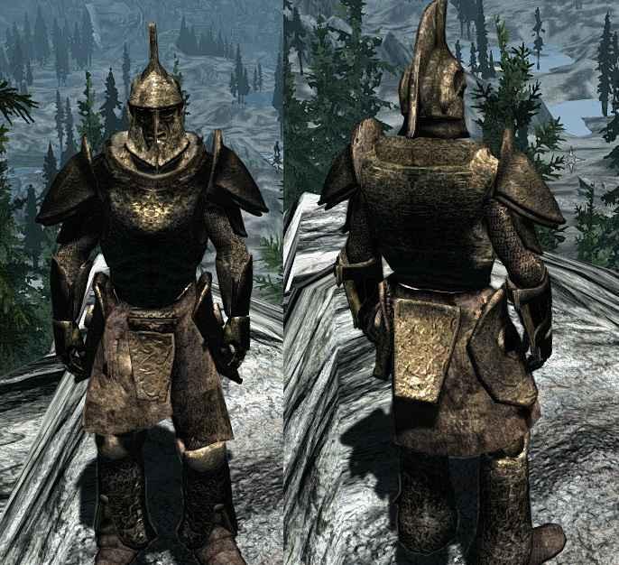 Мод Skyrim — Unique Ancient Dwarven Armor — Уникальная древняя двемерская броня