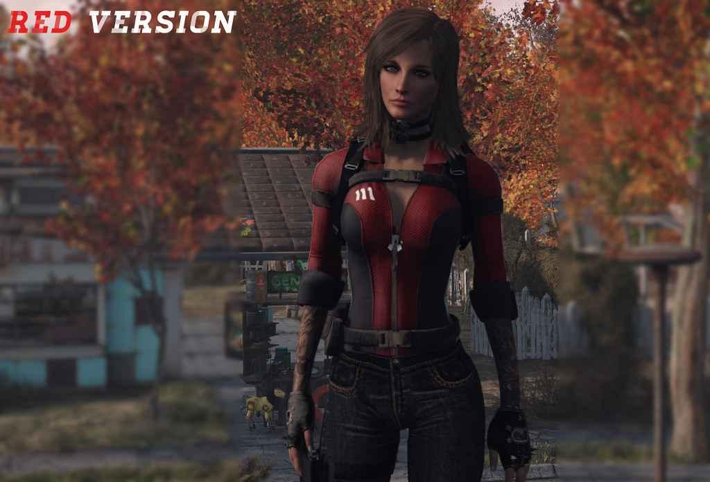 Модификация Fallout 4 — Сборка комбинезона убежища в разных цветах (CBBE / BodySlide)