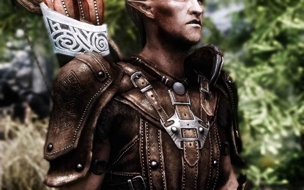Мод Skyrim — HD ретекстур кожаной брони