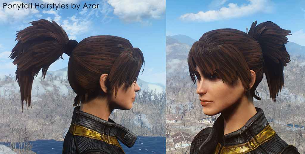 Fallout 4 — Новые женские причёски / Хвостики