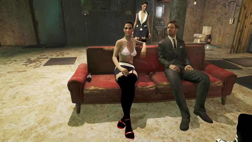 Модификация Fallout 4 — Наряд секретарши (CBBE)
