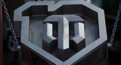 Металлурги сделали 65-килограммовый логотип World of Tanks в честь юбилея игры