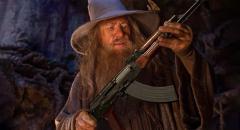 Создатели Wizard with a Gun вдохновлялись мемом, где Гендальф держит АК-47