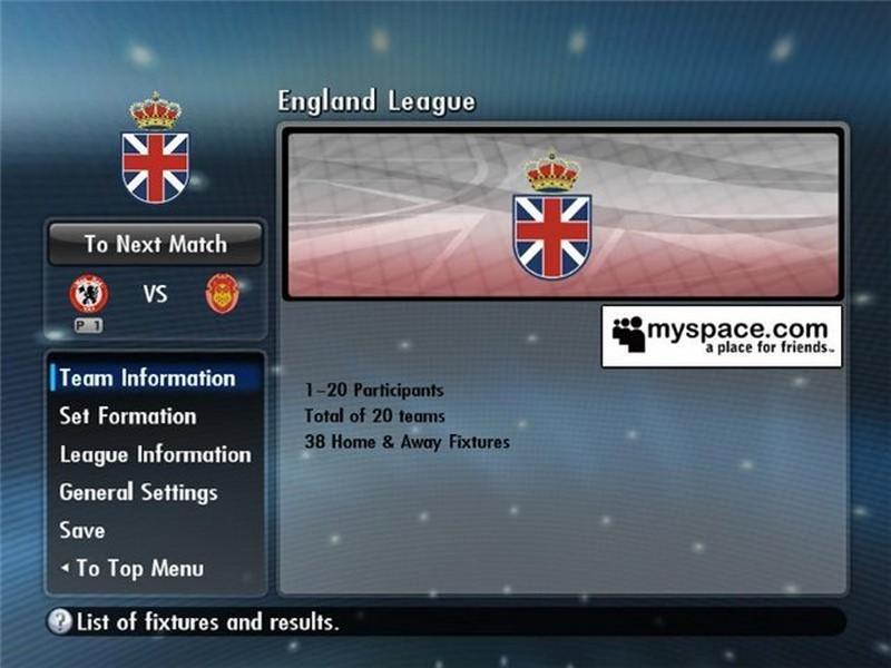 Скриншот к игре PES 2008